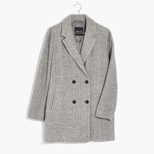 Madewell Double Breasted Herringbone Blazer Coat